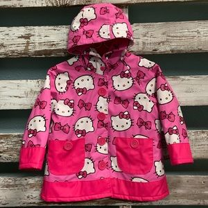 Super Fun 2T Pink Hello Kitty Rain Coat